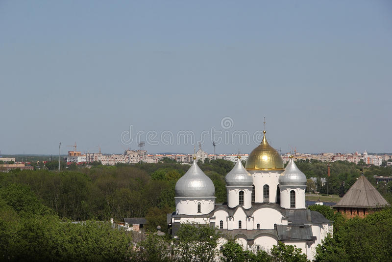 Monastery in Velikiy Novgorod. White monastery in Velikiy Novgorod stock images