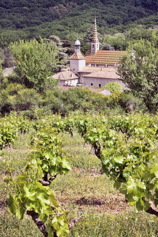 Monastery with a Vineyard stock photography