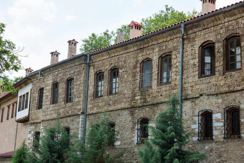 Monastery walls Bachkovski monastery stock images