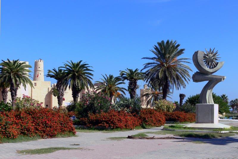 Monastir,突尼斯Ribat  免版税库存图片