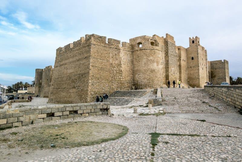 Monastir 突尼斯 2017年5月23日 Ribat堡垒在Monastir 库存照片