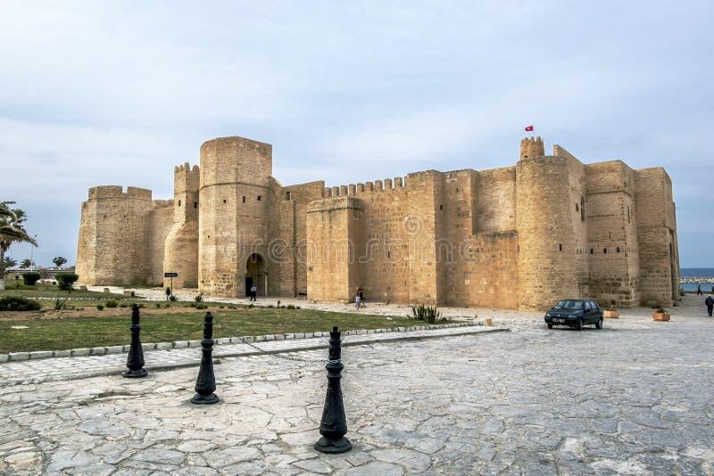 Monastir Tunezja Maj 23, 2017 Forteca Ribat w Monastir zdjęcie royalty free