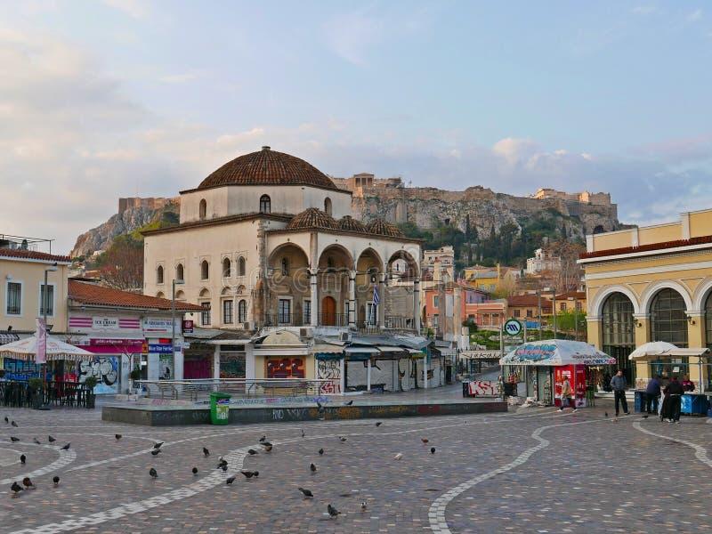 Monastiraki广场 免版税库存照片