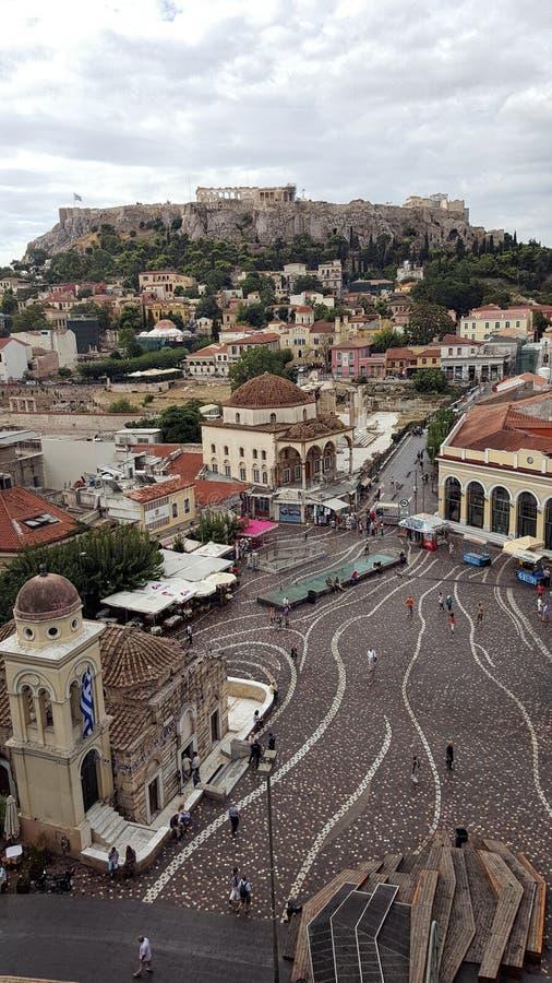 Monastiraki, Atenas, Grecia fotografía de archivo libre de regalías