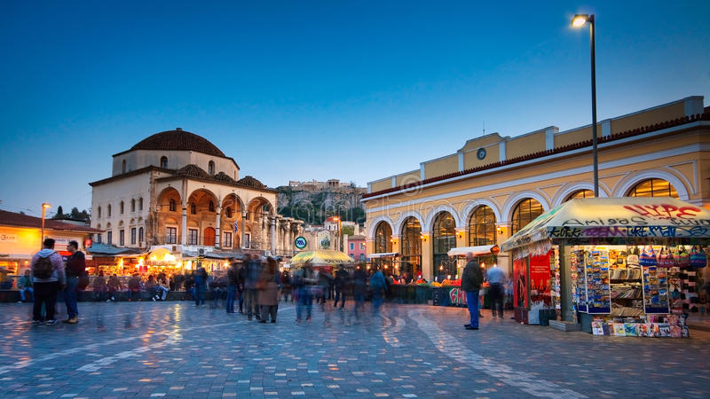 Monastiraki, Atene. immagine stock libera da diritti