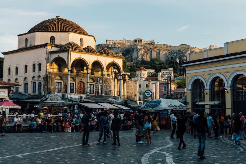 Monastiraki Quadrat in Athen, Griechenland lizenzfreie stockfotografie