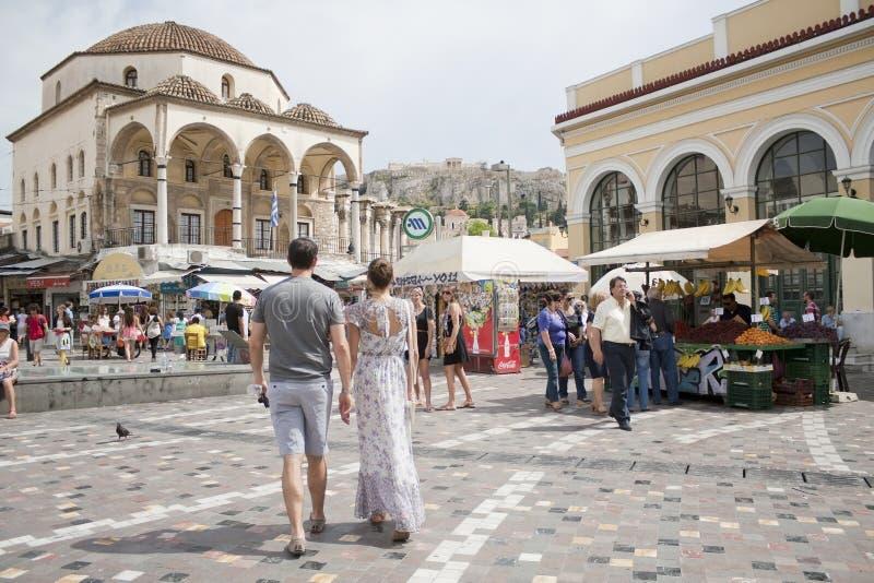 Monastiraki Square in Athens, Greece royalty free stock images