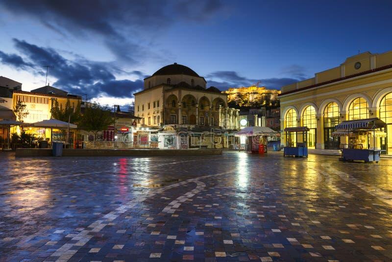Monastirakivierkant, Athene stock fotografie