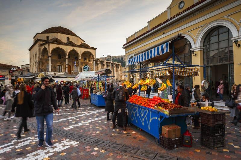 Monastirakivierkant in Athene royalty-vrije stock foto