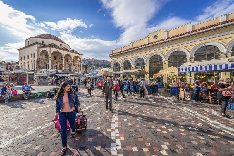 Monastirakivierkant in Athene royalty-vrije stock fotografie