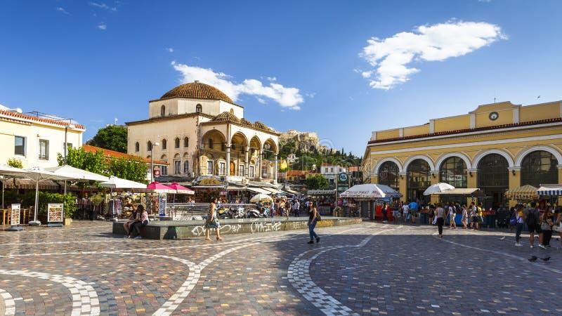 Monastirakivierkant in Athene royalty-vrije stock foto's