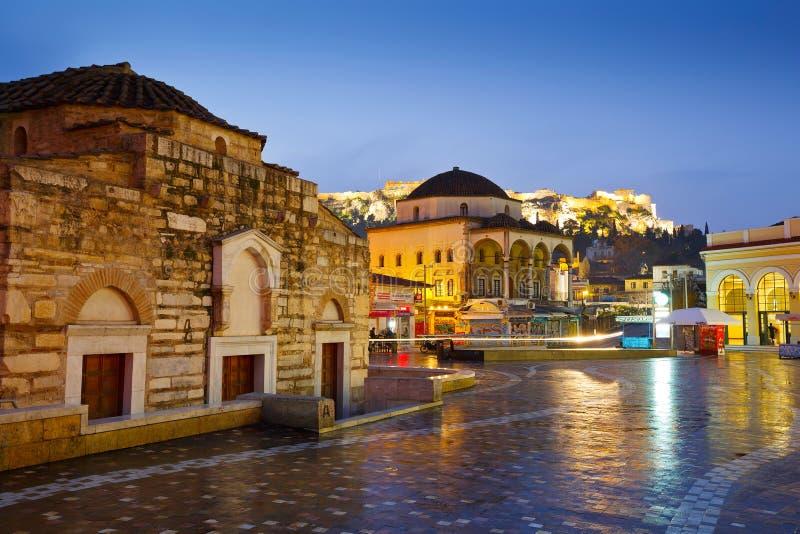 Monastirakivierkant, Athene royalty-vrije stock foto