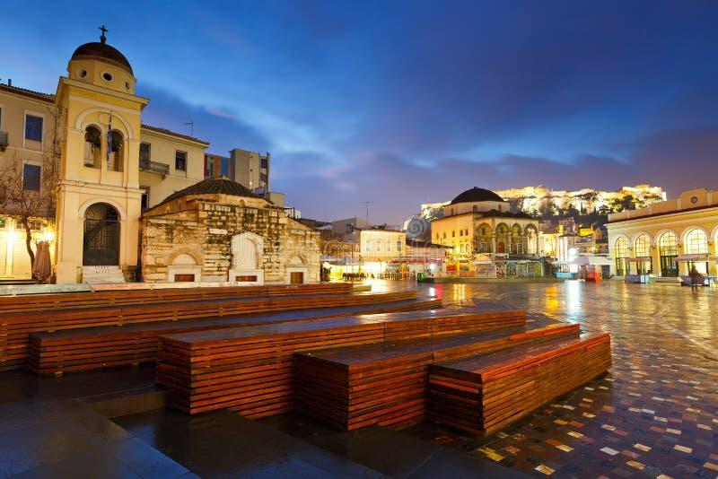 Monastirakivierkant, Athene royalty-vrije stock afbeeldingen