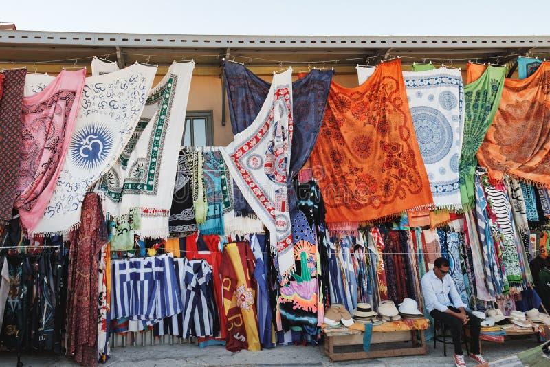 Monastirakivlooienmarkt in Athene, Griekenland royalty-vrije stock foto's