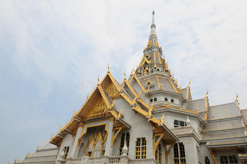 Monastry real en Chacheongsao, Tailandia foto de archivo libre de regalías