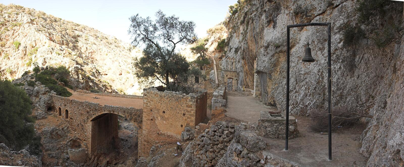 Monastyr Agia Triada royalty-vrije stock foto's
