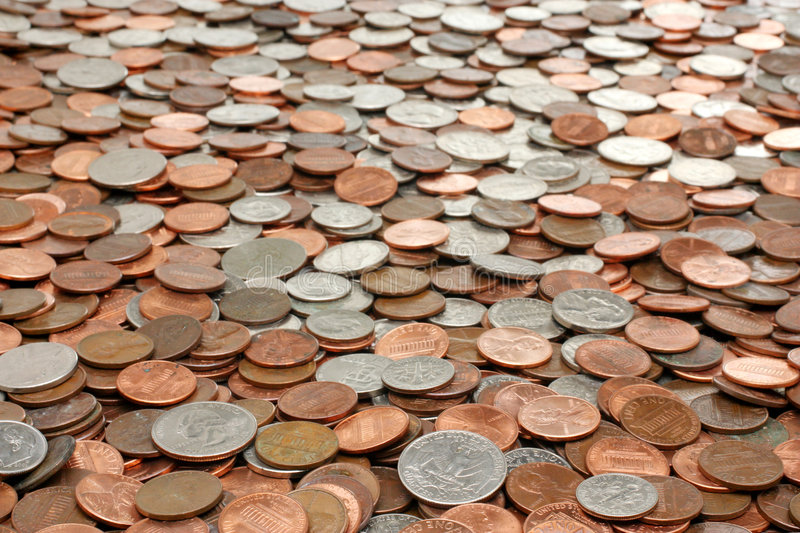 Monay Coins Background Stock Images