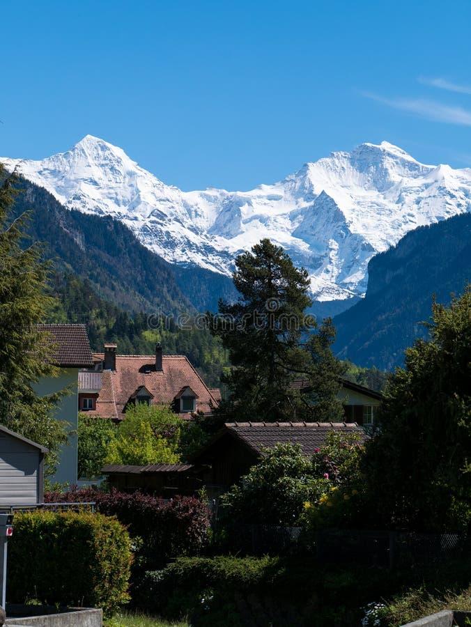 Monch et Jungfrau photographie stock