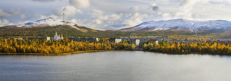 Monchegorsk royaltyfria foton