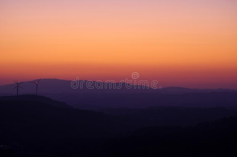 Monchique Sunset foto de stock royalty free
