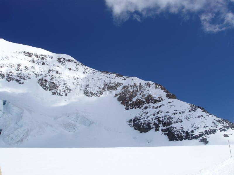 Monchview del Jungfraujoch Suiza imagenes de archivo