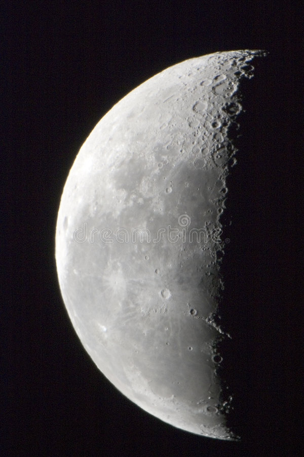 Mond des letzten Quartals lizenzfreies stockbild