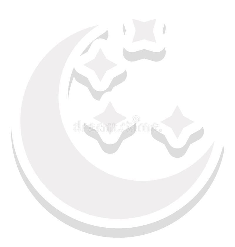 Mond farbige Vektor-Ikone, die leicht geändert werden oder redigieren kann lizenzfreie abbildung