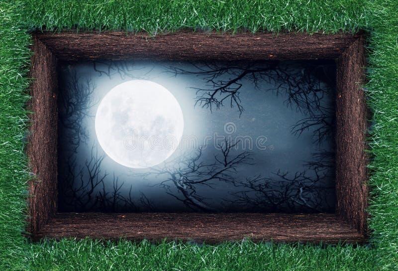 Mond im Boden lizenzfreie stockbilder