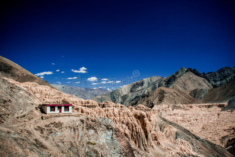 Mond-Land-Berg, Ladakh, Indien lizenzfreie stockfotografie