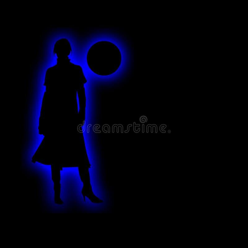 Mond-Mädchen vektor abbildung