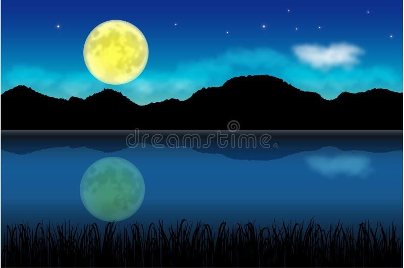 Mond nachts lizenzfreie abbildung