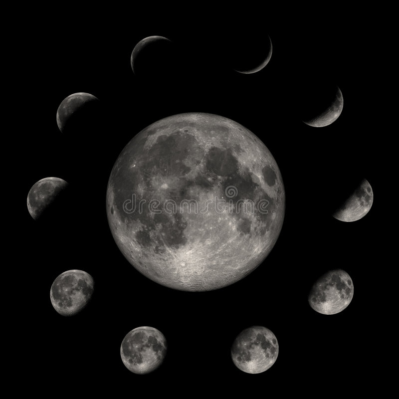 Mond-Phasen lizenzfreie abbildung