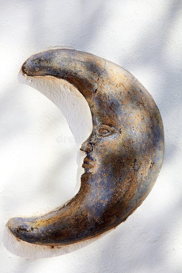 Mond-Skulptur lizenzfreies stockbild