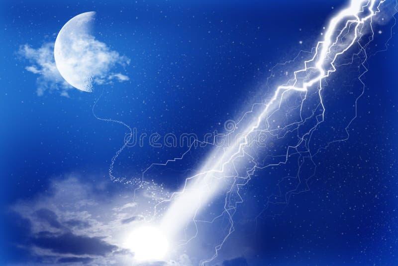 Mond und Blinken stock abbildung