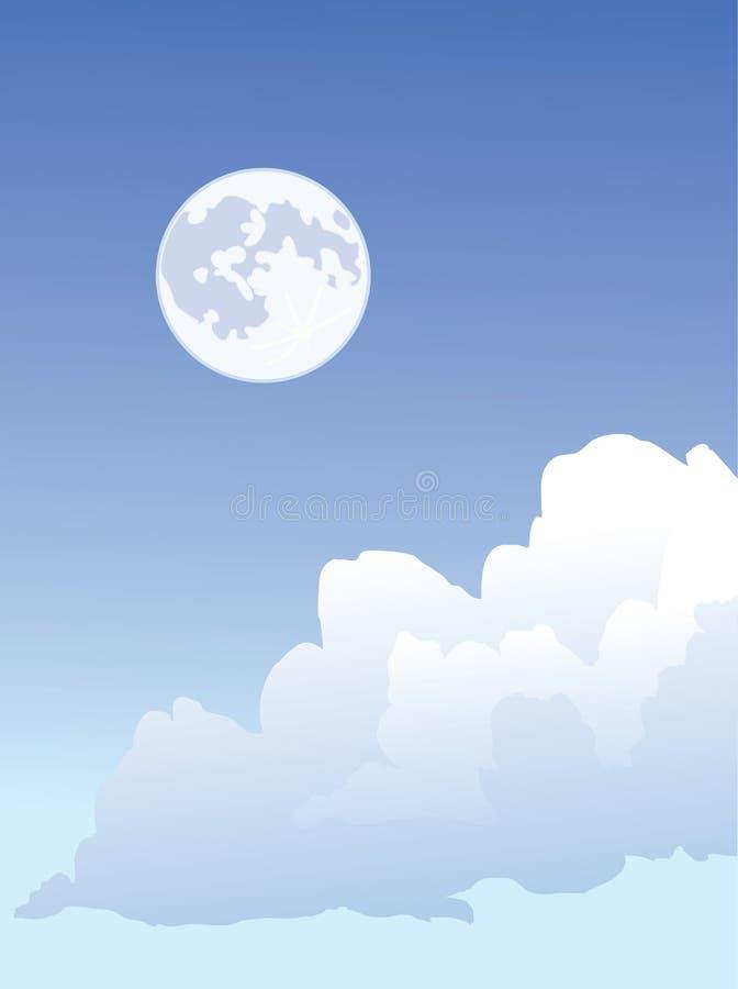 Mond und Wolken lizenzfreie abbildung