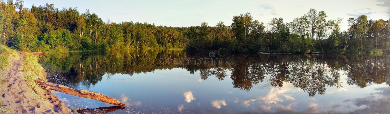Mond van rivier stock foto