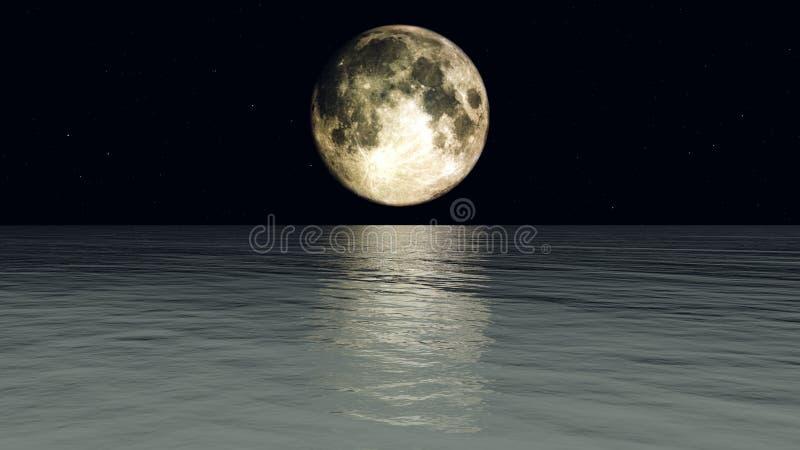 Mond-Wasser Stockfotografie