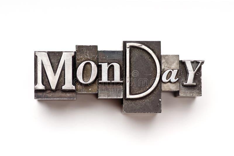 Monday royalty free stock photography