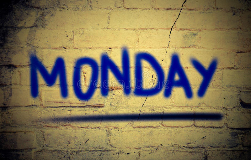 Monday Concept royalty free stock photography
