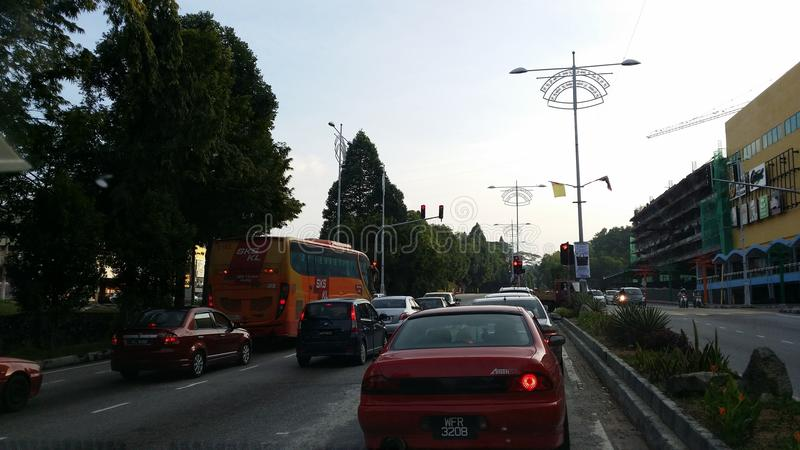 Monday morning. Traffic jammed on Monday morning royalty free stock photography