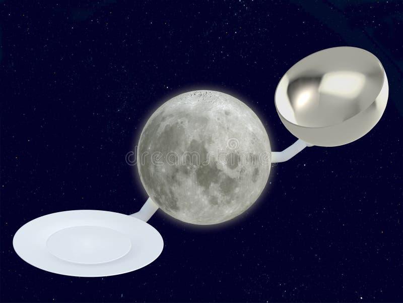 Mondchef mit Teller vektor abbildung