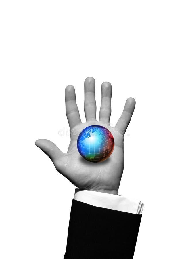 Monde à disposition illustration stock