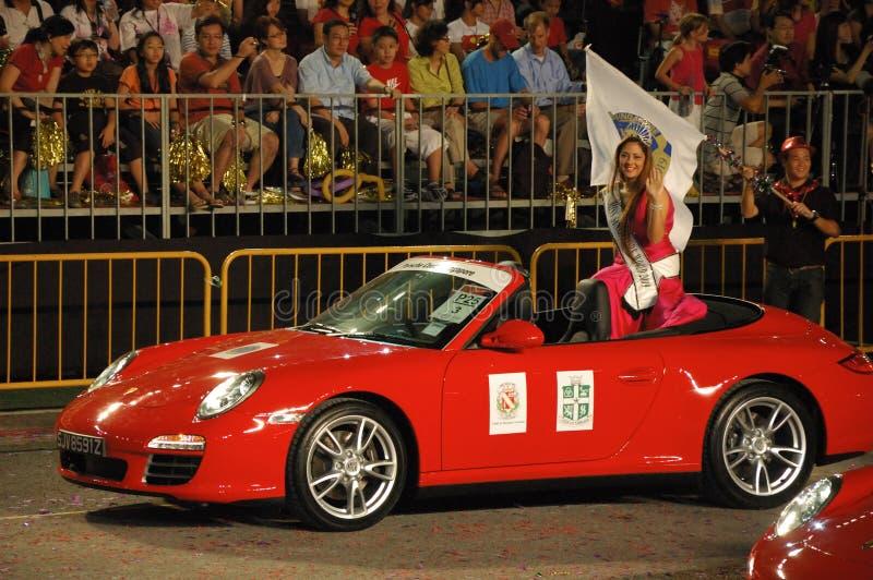 Monde 2009 de Mlle Singapour chez Eurasiana photos libres de droits