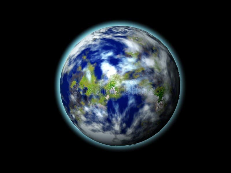 Monde 3d illustration stock