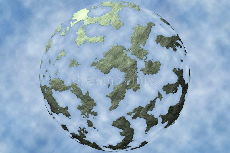 Monde abstrait dans les nuages illustration stock