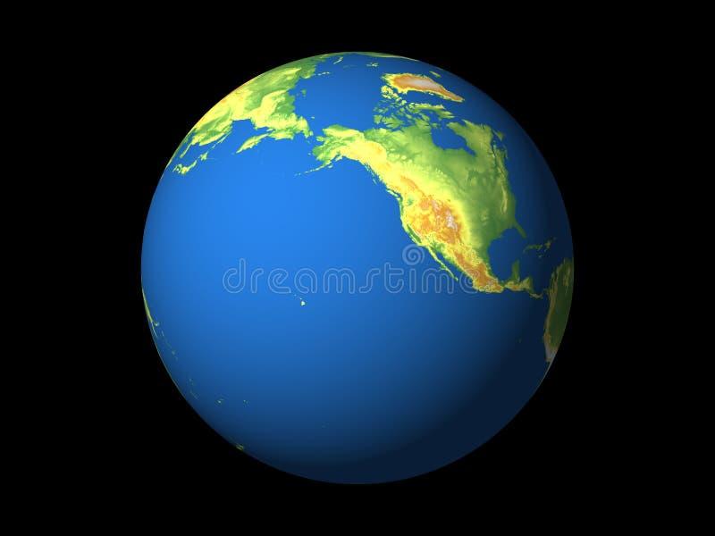 Monde, Amérique du Nord, Pacifique illustration de vecteur