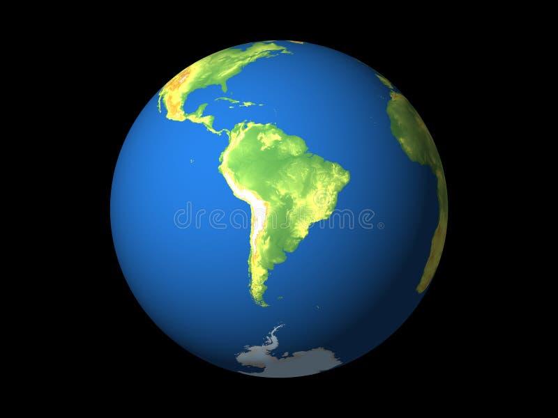 Monde, Amérique du Sud illustration stock