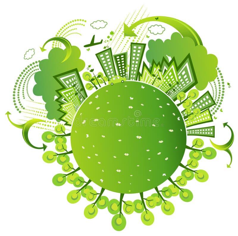 Monde amical d'Eco illustration stock