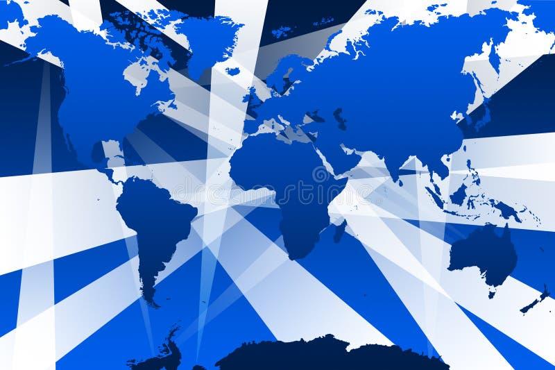 Monde avec des faisceaux illustration libre de droits