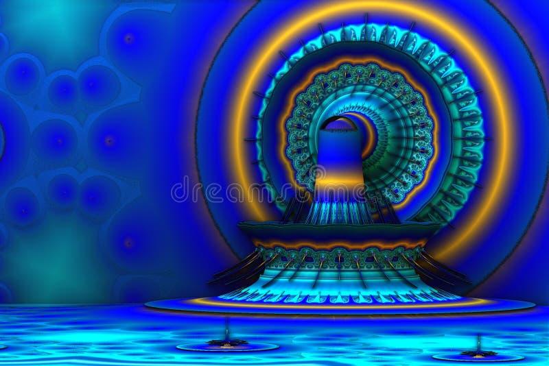 Monde bleu illustration de vecteur
